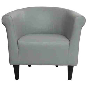 Gray Faux Leather Upholstered Accent Chair Club Chair - Made in USA -   - Magneta Brand
