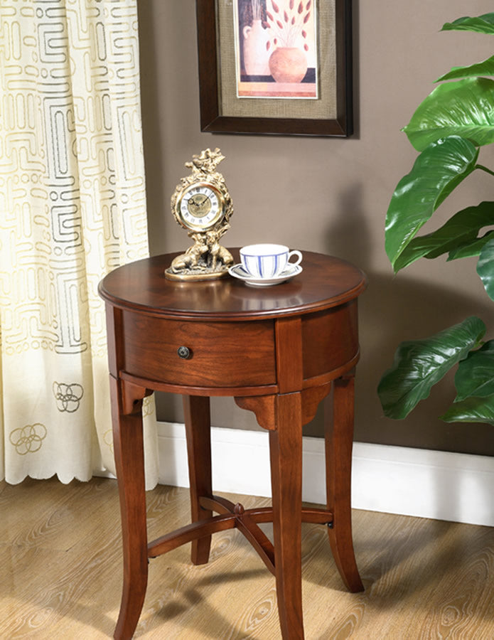 ROUND DRAWER SIDE TABLE -   - Magneta Brand