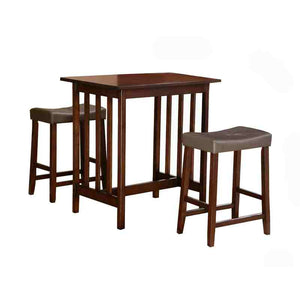 3-Piece Counter Table and Stools Dining Set in Cherry Finish -   - Magneta Brand