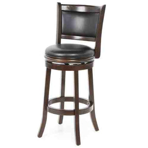 Cappuccino 29-inch Swivel Barstool with Faux Leather Cushion Seat -   - Magneta Brand