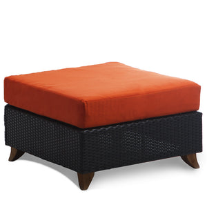 Rattan Deep Seating Ottoman -  Outdoor - Magneta Brand