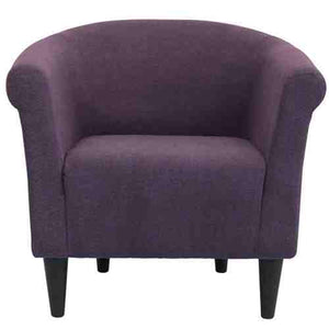 Contemporary Classic Upholstered Club Chair Accent Arm Chair in Eggplant Purple -   - Magneta Brand