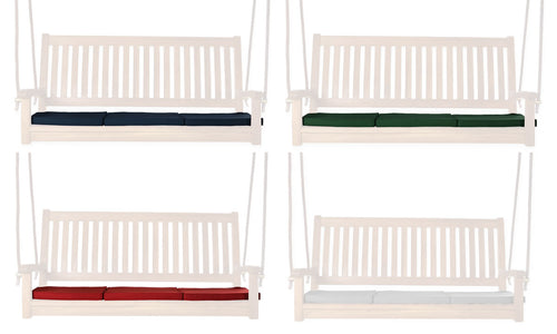 Teak Swing Cushions (white, blue, green, red) -  Outdoor - Magneta Brand