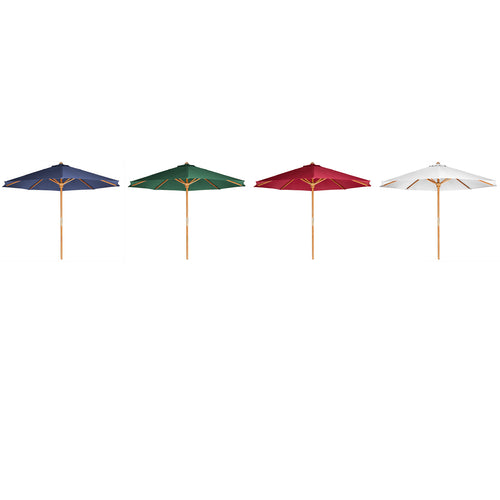 Teak Umbrella  (white, blue, green,red) -  Outdoor - Magneta Brand