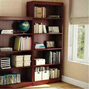 Five Shelf Eco-Friendly Bookcase in Royal Cherry Finish -   - Magneta Brand