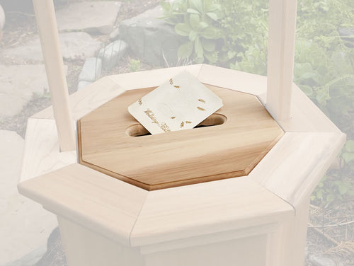 Slotted Gift Lid for Small Wishing Well -  Outdoor - Magneta Brand
