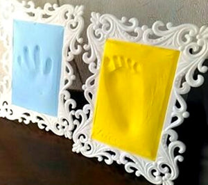 Precious memories - frozen in time - your baby's hand and foot print on Clay - A Real Memory for Life -   - Magneta Brand