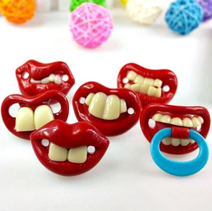 Very funny Baby Pacifier. Give your cute baby a new look with these pacfiers -   - Magneta Brand