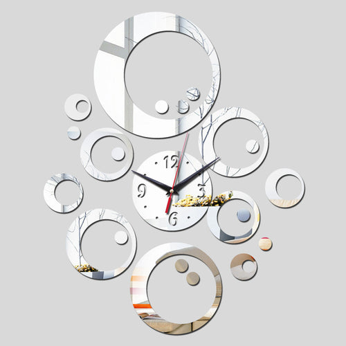2016 promotion hot sale quartz watch wall clock modern home decoration diy antique acrylic mirror Wall Stickers free shipping -   - Magneta Brand