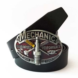 Mechanic Belt Buckle  with Belt - Wear your Craft with Pride -   - Magneta Brand