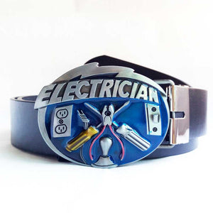 Cool Electrician Craft Belt Buckle with Belt - For those who are proud of their skill -   - Magneta Brand