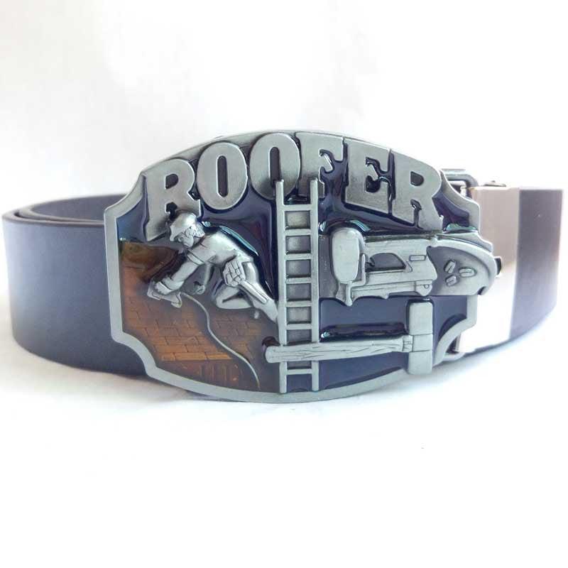 Stylish Belt with Roofer Buckle for the Skill that puts the most important part of the house in place -   - Magneta Brand