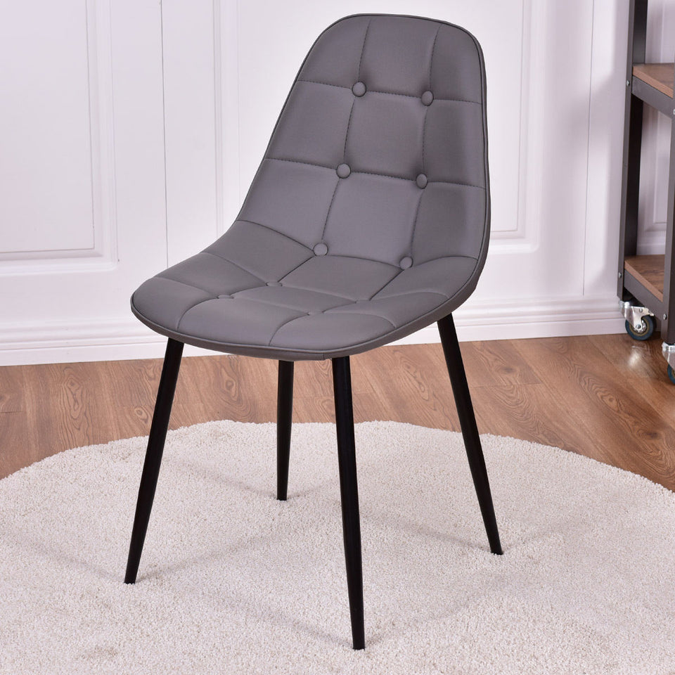 Metal Tufted Dining Room Chairs -   - Magneta Brand