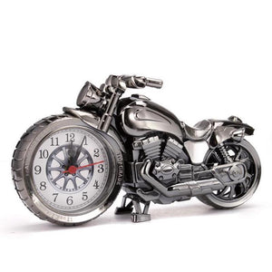 Creative Motorcycle Motorbike Pattern Alarm Clock Desk Clock Creative Home Birthday Gift Cool Clock (Wheel Type was Randomly) -   - Magneta Brand