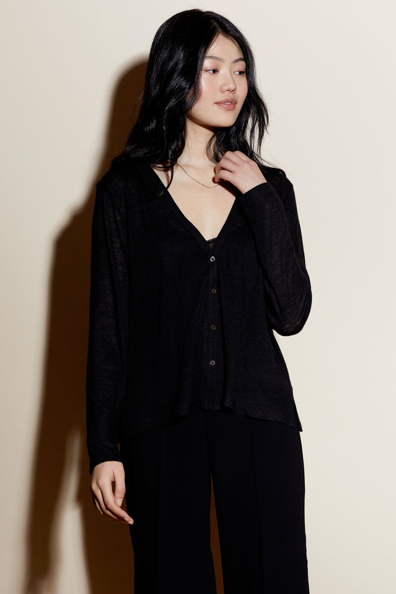SAMMY CARDIGAN / BLACK