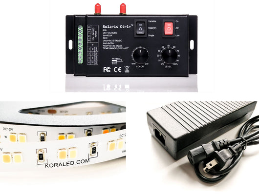 KoraLED Starter Kit - Professional Flicker-Free LED Controller, High CRI LED Strips, and Power Supply!