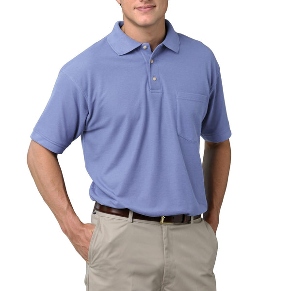 Blue Generation Men's 60/40 Pique Polo Shirt With Pocket