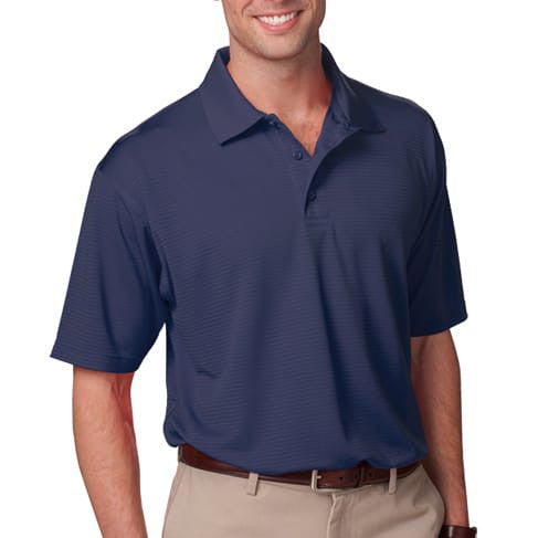 Blue Generation Men's Stripe Wicking Polo