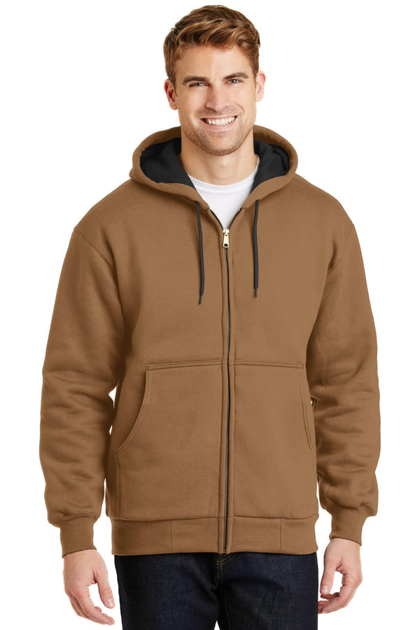 Cornerstone Heavyweight Full-Zip Hooded Sweatshirt With Thermal Lining
