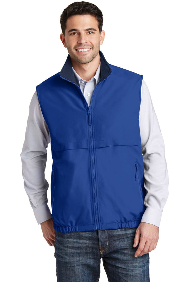 Port Authority Reversible Nylon And Fleece Vest