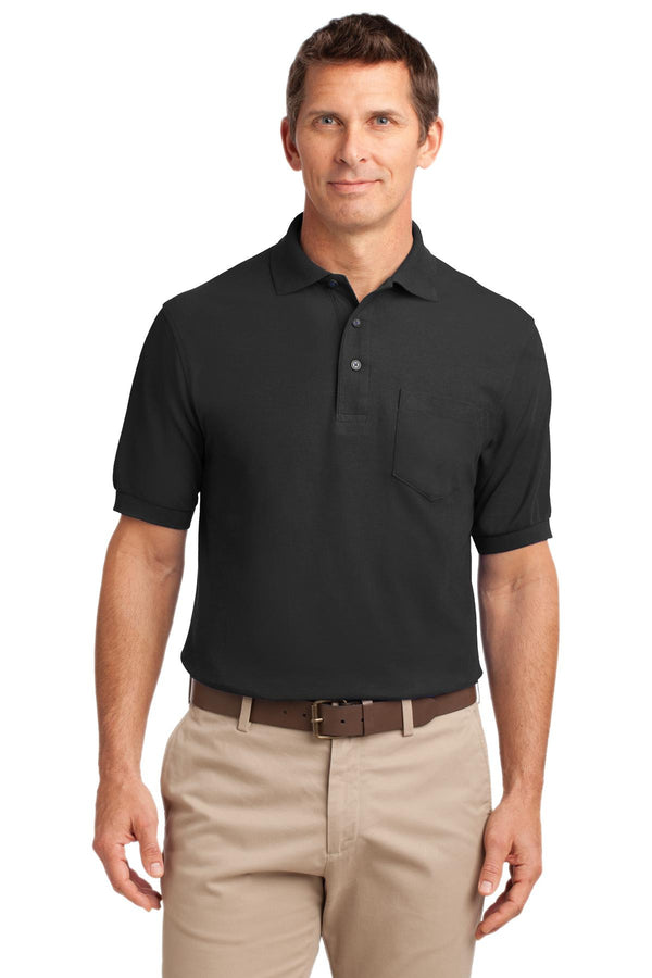 Port Authority Men's Silk Touch Polo Shirt With Pocket