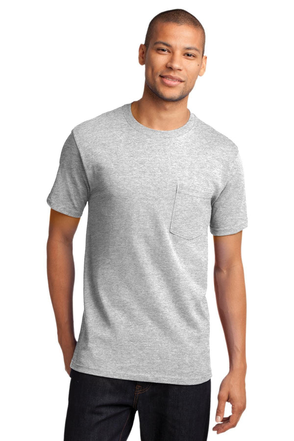 Port & Company Heavyweight Cotton Pocket Tee Shirt