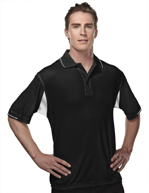 Tri-Mountain Men's 2-Tone 100% Poly Waffle Knit Polo