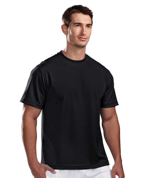 Tri-Mountain Men's 100% Poly Pique Crewneck Shirt