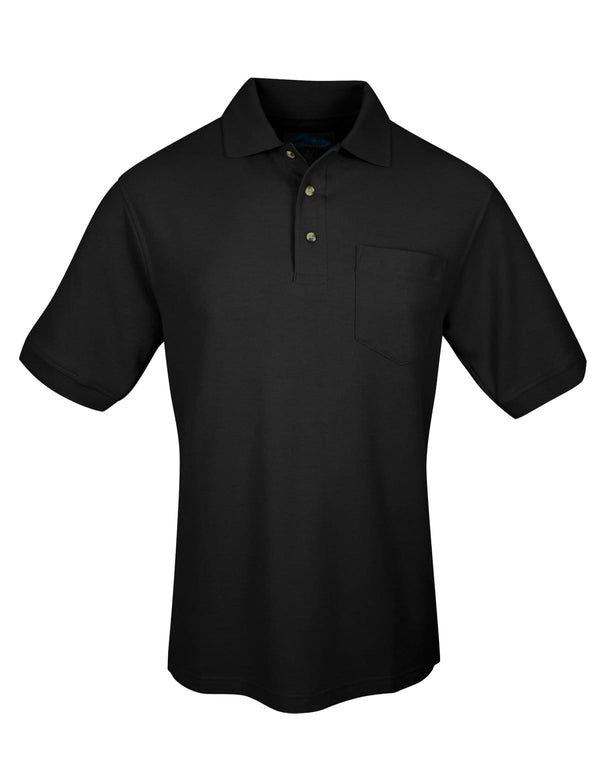 Tri-Mountain Men's Combed Cotton Pocket Pique Polo Shirt