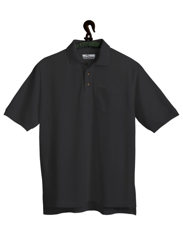 Tri-Mountain Men's 7oz 60/40 Stain Resistant Pique Polo W/Pocket