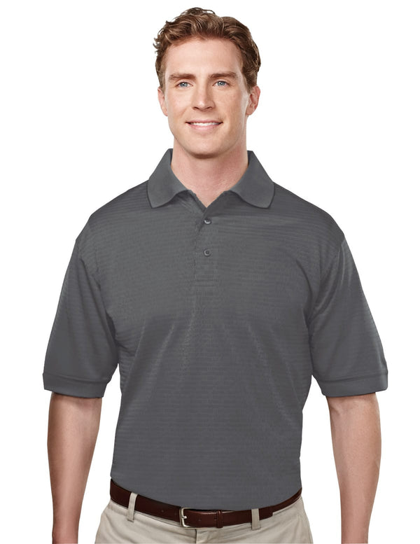 Tri-Mountain Men's 4.7Oz 100% Poly Polo With Basket Pattern