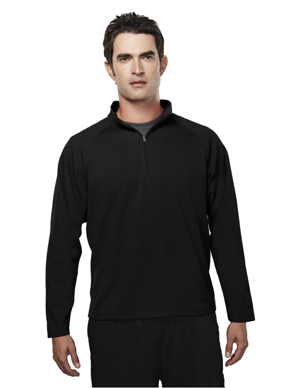 Tri-Mountain Men's 6.3oz 100% Peached Polyester Pique 1/4 Zip Pullover Shirt