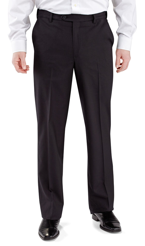 Winthrop & Church Plain Front Polyester Wool Dress Pant