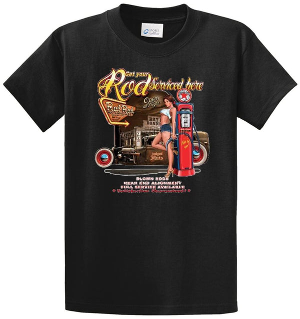 Get Your Rod Serviced  Printed Tee Shirt