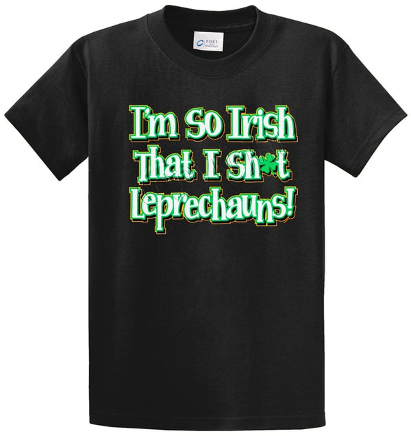 I'm So Irish, Leprechauns Printed Tee Shirt