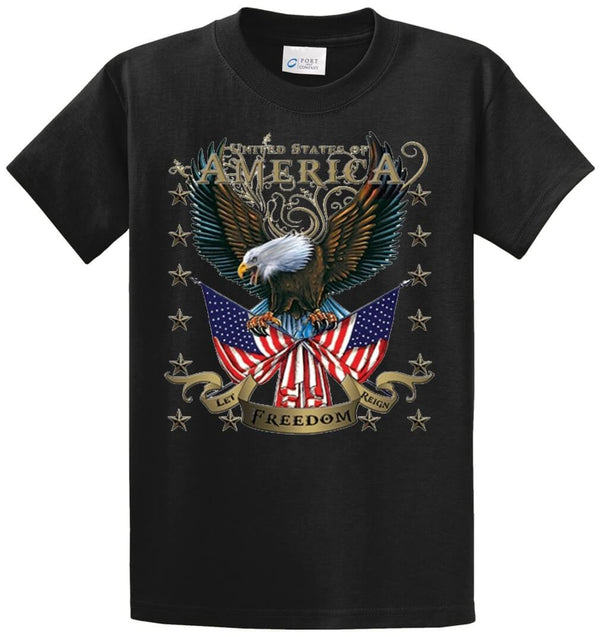 American Eagle Let Freedom Reign Printed Tee Shirt