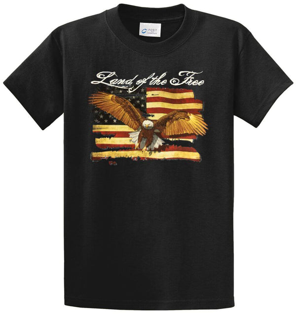 Land Of The Free Printed Tee Shirt