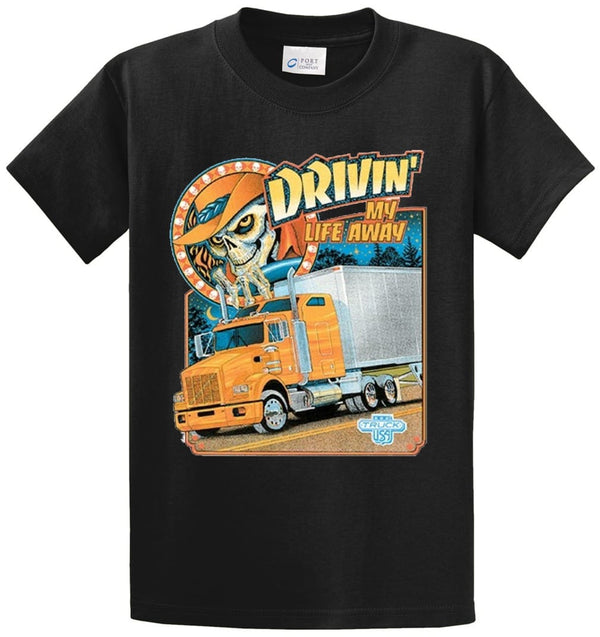 Drivin' My Life Away Printed Tee Shirt