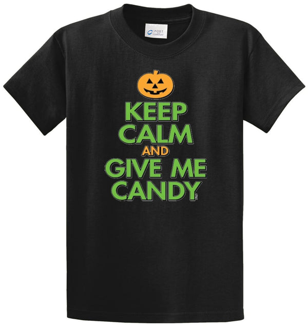 Keep Calm And Give Me Candy Printed Tee Shirt