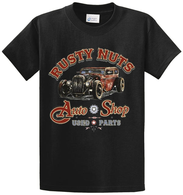 Rusty Nuts Auto Shop Printed Tee Shirt