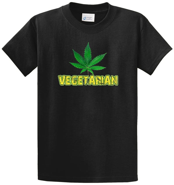 Vegetarian Printed Tee Shirt