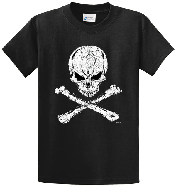 Crossbones Distressed Printed Tee Shirt