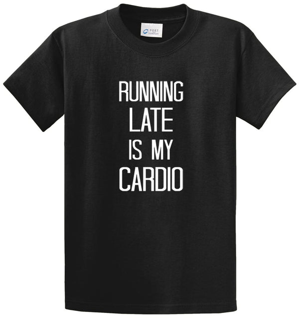Running Late Printed Tee Shirt