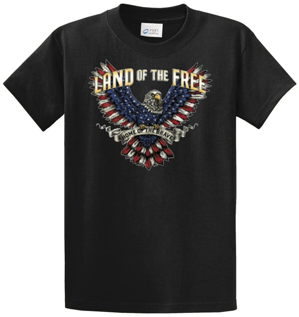 Land Of The Free - Eagle Printed Tee Shirt