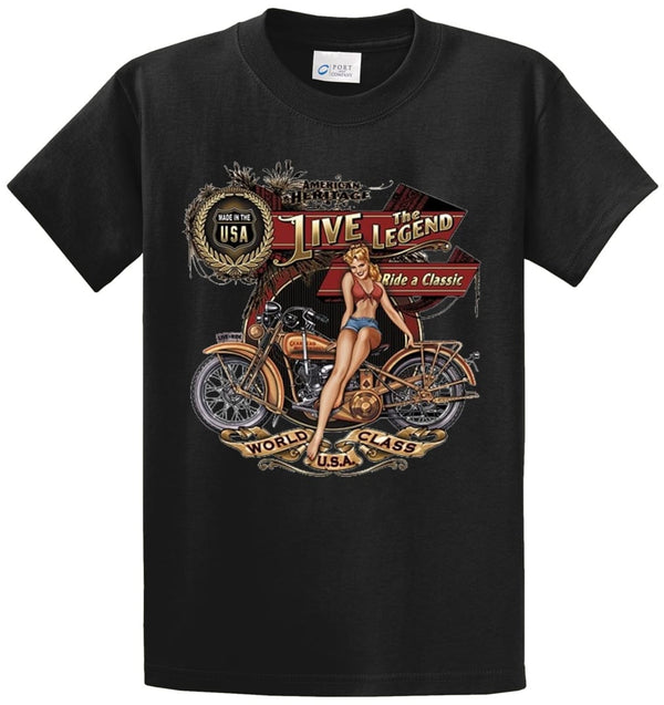 Live The Legend Printed Tee Shirt