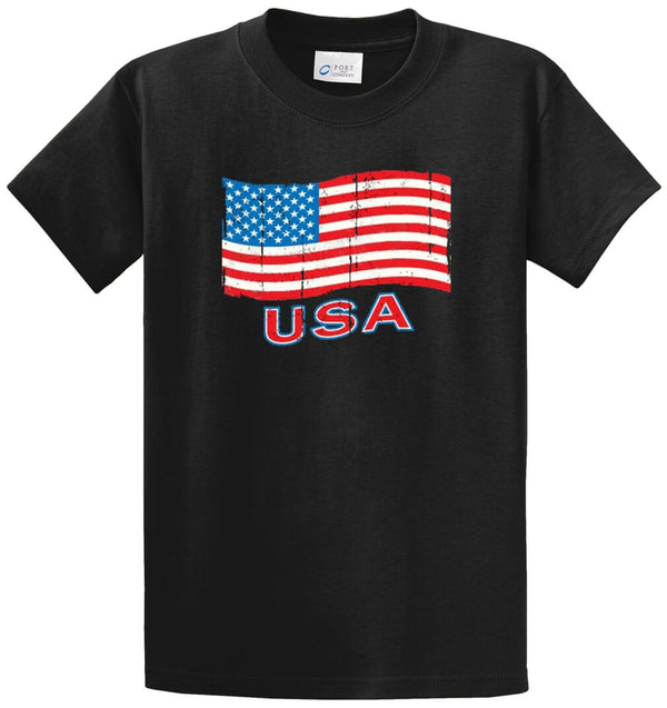 Usa Flag Printed Tee Shirt