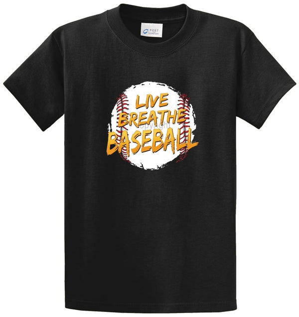 Live Breathe Baseball Printed Tee Shirt