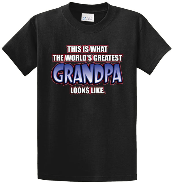 Greatest Grandpa Looks Like Printed Tee Shirt