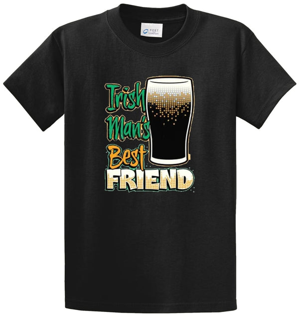 Irish Mans Best Friend Printed Tee Shirt