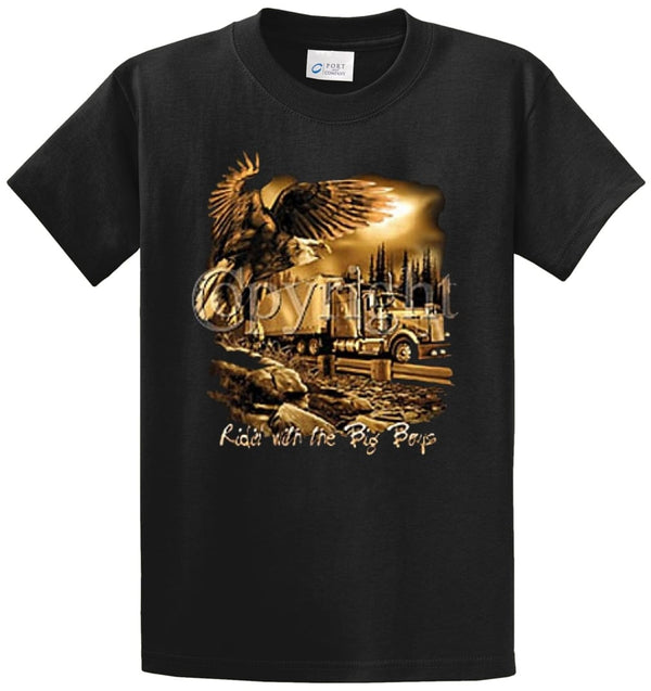Ridin' With The Big Boys Printed Tee Shirt